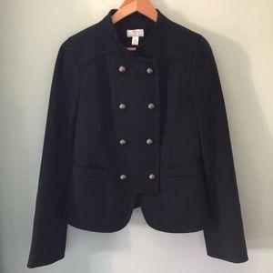 Loft navy wool military style jacket 8